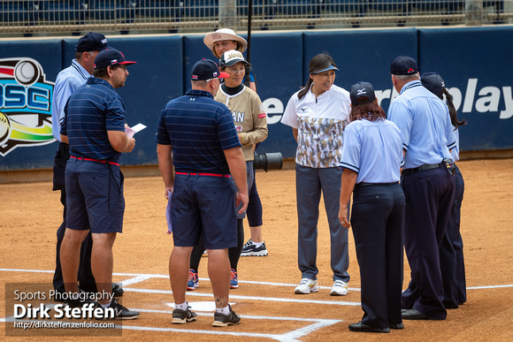 USA Softball International Cup 2018, Pool B: Game CZE vs. JPN